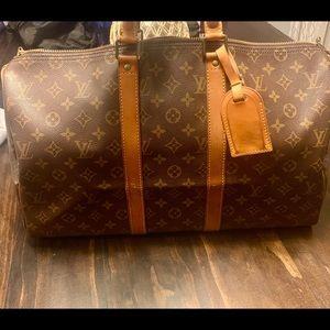 Auth. Louis Vuitton Monogram Keepall 40 Handbag